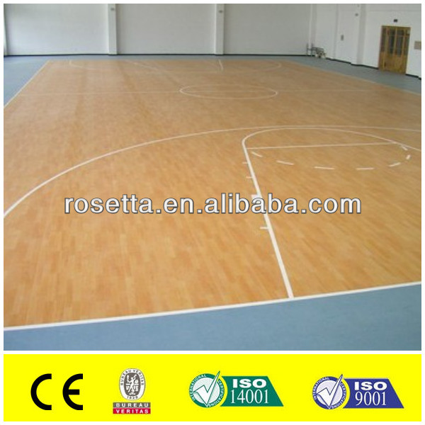 plastic pvc sports maple flooring professional basketball floor covering