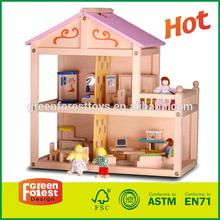 Children Play Wooden Doll House
