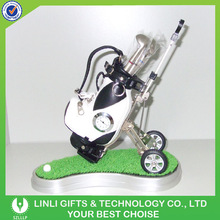 Golf Promotion Mini Golf Bag And Pen With Grass
