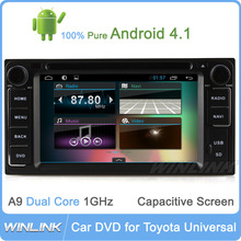 Pure Android 4.1 3G WIFI radio A9 Chipset HD 1080P car dvd gps 2 din