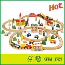 Kids Wooden Train Track