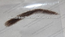 Hot selling swiss base human hair full handtied eyebrow in stock,accept Paypal