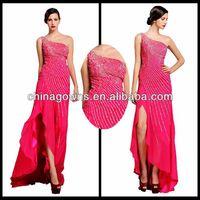 Shiny One Shoulder Grace Charming Evening Dresses / vestidos de noche