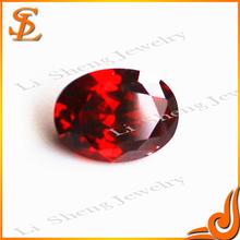 Brilliant cut wholesale artificial loose garnet oval diamonds