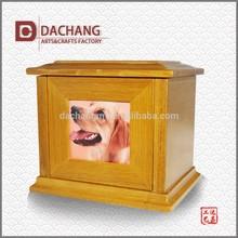 wholesale OEM wood cheap photo frame pet urn