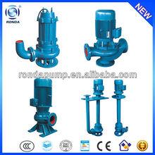 QW WQ YW LW GW non-clog sewage centrifugal submersible pump