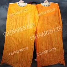 pairs belly dance 1.5M belly dance fan veil color all orange