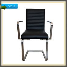 upholstered black leather dining chairs with arms