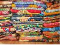 kantha vintage colcha reversível sari indiano colcha