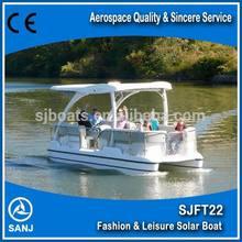 Electric pontoon boat