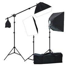 Studio Video 4500W Digital Photography Studio 3 Softbox Lighting Kit Light Set and Carrying Case