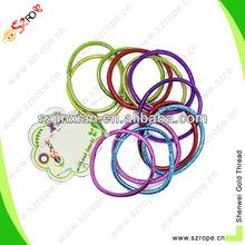 4mm colored hair tie ring,wholesale elastic hair ribbons