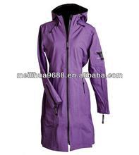 Fashion Purple Women Waterproof Breathable Rain Jacket