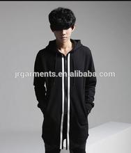 Mens sport long hoodies & sweatshirt ,wholesale long hoodies with embroidery,custom design long fleece hoodie