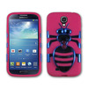Newest Released Hybrid hard Plastic PC+Soft Silicone Kickstand Combo Case Cover Blue Hot Pink For Samsung Galaxy S4 I9500