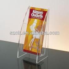 acrylic clear hot new product custom pocket brochure holder