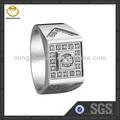 design personalizado em aço inoxidável maçônica anéis