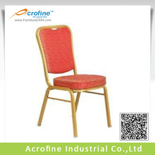 iron dining chair gold and red