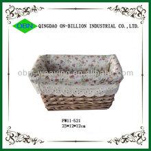 Handmade wicker small rectangular baskets