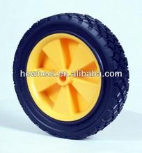 "7x1.75"" solid rubber wheel for lawn mower/garden cart/hand truck"