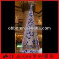 pendurado bola branca picada torre de luz forma decorativa de natal com árvore de estrelas superior