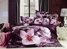 QUEEN SIZE PHOTO FLOWERS wholesale 3d bedding sets 4pcs bedding set bed sheet set