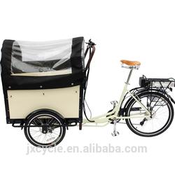 Europe 3 Wheel denish bakfiets family Electric Cargo Bikes for children