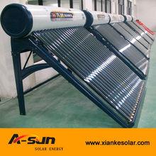 popular 100-300 liters compact low pressure solar hot water heater