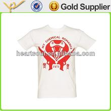 high quality fashion white o-neck mens t shirt