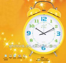 2015 gaint metal twin bells alarm Clock with music