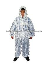 Artículo ligero caza nieve camuflaje trajes Ghillie