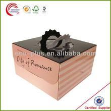 Custom Design Food Grade Decorative Take Away Paper Cake Box