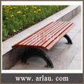 Patio en bois park street banc chaise avec pieds en fonte FW11
