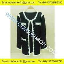 Lana/acrilico signore collo lungo maglione cardigan cappotto a maglia fabbrica