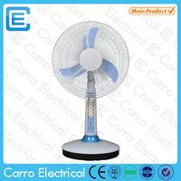 Energy saving AC DC double use 16inch solar battery fan battery operated desktop fan