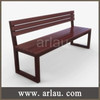 Outdoor simple wooden bench chair with backrest FW180