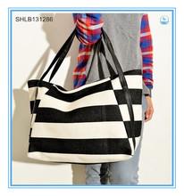 Fashion Large Stripe Laptop Bags Canvas Tote Bag