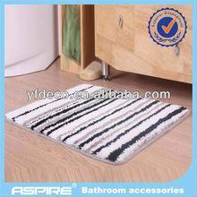 Fashion chenille bath mat set