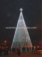 20m Xmas tree with lights in night for Christmas decoration