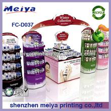 supermarket mac makeup FSDU cardboard display,skin care products display shelves