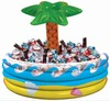 inflatable cooler/fashionable inflatable palm tree beverage cooler for party