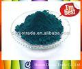 Rendimiento de Hign Color en polvo de pigmento de pavo real de cerámica verde para cuarto de baño de cerámica azulejos