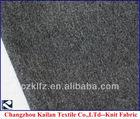95% cotton knit grey melange color fabric