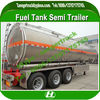 Fuel Tank Trailer, Aluminum Alloy Feul Tanker Semi Trailer, 3 axle oil tanker trailer 40 m3