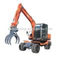 Kunming de yunnan fashional amz 75w-8 7 toneladas de la rueda hidráulica mini excavadora de control remoto de los precios