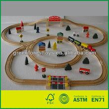 Wooden Train Set 70pcs Toy Train Track
