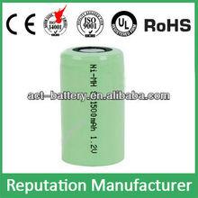 nimh sub-c batteries 1500mah 1.2v sc rechargeable battery