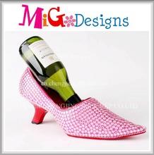 Best Selling Products In America Fancy Wine Rack Furniture W/ Pink Rhinestones