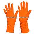 Orange gants de ménage en Latex / troupeau des ménages bordée gants / gants de ménage en Latex de haute qualité