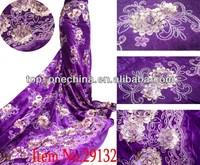 Beautiful hot-selling velvet fabric wholesale embroidered velvet fabric for shop